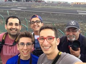 Einige der Jäger der Jets am Airport SPC: Die Mitglieder von Spotting La Palma schießen ausgezeichnete Fotos.