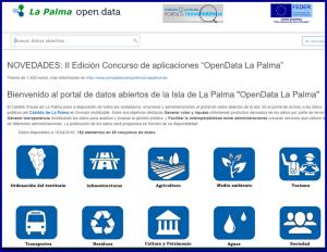 Homepage von La Palma Open Data: Infos für jedermann.