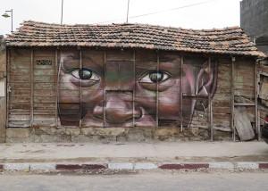Sabotaje al Montaje: Wandbild beim Senegal-Festival 2015. Foto: Matías
