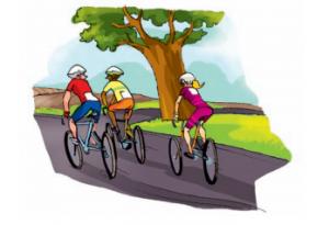 Radeln nebeneinander: Ist in Spanien erlaubt, aber maximal zwei Fahrer dürfen parallel fahren und nur in übersichtlichen Straßenbereichen. Grafik: DGT