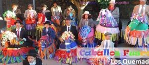 """Alljährlicher Höhepunkt der Vendimia-Fiesta: Auftritt der Caballos Fuscos, was man mit """"crazy horses"""" übersetzen könnte. Foto:"""