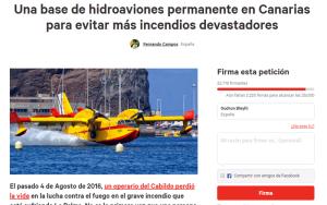 Petition für eine ständige Löschflugzeug-Basis auf den Kanaren auf Change.org: Mehr als 30.000 Menschen haben sie schon unterschrieben (Stand Montag, 8 Uhr).