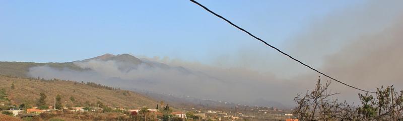 La Palma Waldbrand am 4. August 2016, 20.15 Uhr: Offen