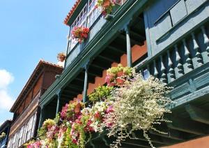 Schöne alte Balkone in Santa Cruz de La Palma: Kiefernholz und sein besonders harter Tea-Kern wurden hier einst mit Vorliebe verbaut. Foto: La Palma 24