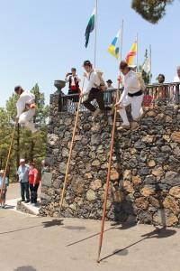 Salto del Pastor: Auf La Palma gibt es immer wieder Demonstrationen für Inselgäste. Foto: Palmeros en el Mundo/Fernando Rodríguez