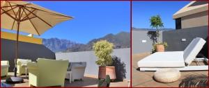 Hotel Benahoare: Auf dem Dach wartet eine Oase der Ruhe mit tollen Blick auf die Vulkane von La Palma auf die Gäste. Fotos: La Palma 24