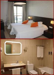 Hotel Benahoare Los Llanos: 18 Doppelzimmer mit Bad auf drei Etagen. Fotos: La Palma 24