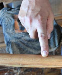 Ganz wichtig: Die Maserung des Holzes für die Lanzas muss eng und gleichmäßig sein. Foto: La Palma 24