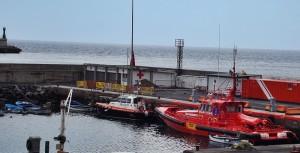 GES-Rettungsboot: ständig einsatzbereit im Hafen von Santa Cruz de La Palma. Foto: La Palma 24