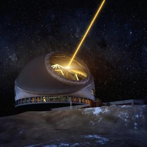 Das Thirty-Meter-Telescope (TMT): La Palma gilt als heißer Anwärter für den Standort. Foto: TMT-Courtesy-Observatory-Corporation