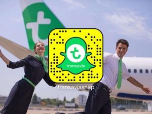 Snapchat: Insider-Infos von Transavia.