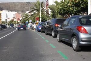 Grüne Zone Santa Cruz: mit Parkscheibe zu gewissen Zeiten drei Stunden gratis. Foto: Stadt