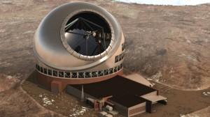 Modell des 30-Meter-Teleskops: Plan A ist noch immer, es auf Hawaii zu bauen. Plan B sieht alternative Standorte auf La Palma, Mexiko und Chile vor. Wer macht das Rennen? Foto: TMT