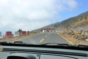 Vorläufig keine Besserung in Sicht: Es fehlen Millionen im Kanaren-Haushalt, um die Baustellen an der Straße nach Fuencaliente schnell zu beenden. Foto: La Palma 24