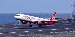 Airberlin ist eine der wichtigsten Fluggesellschaften für La Palma-Urlauber aus Deutschland, Österreich und der Schweiz: Wie geht es weiter? Foto: Carlos Díaz La Palma Spotting