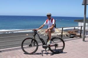 La Palma 24-Tipp: In der Zwischensaison auf La Palma - also im Mai, Juni oder September, Oktober ist das Wetter insbesondere für aktive Leute optimal. Man kann sich zum Beispiel im Urlaub ein E-Bike mieten. Foto: La Palma 24