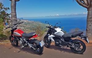 Oktober: Während in Deutschland die Motorräder in die Garage kommen, kann man auf La Palma noch fröhliche Inselrundfahren unternehmen. Foto: La Palma 24
