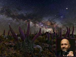 """Astrofoto-Wettbewerb La Palma 2016: Giovanni Tessicini wurde mit diesem Bild von Taginasten vor der Milchstraße Sieger in der Kategorie """"Landschaften über La Palma""""."""