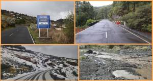 Zufahrten zum Roque in Ost und West: bleiben bis auf Weiteres noch geschlossen - Hochwasser im Barranco de las Angostias.