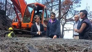 Nach dem Waldbrand: Das Sichern des Bodens wegen Erosionsgefahr bei Regen laufen auf Hochtouren. Foto: Kanarenregierung