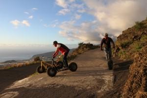 La Palma: alternativ zum Bike kann man jetzt auch mit dem Monsterroller downhillen. Foto: La Palma 24