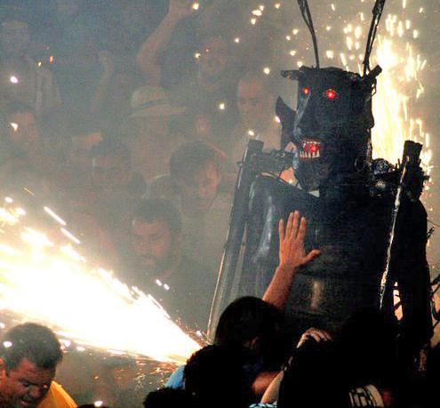 Danza del Diablo in Tijarafe: der Teufel tanzt nach Mitternacht - nichts für Feiglinge. Foto: Gemeinde