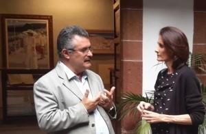 Kanaren Ministro Mairate Lorenzo y insular cultura Consejo Primitivo Jerónimo: Reunión en La Palma. Foto: Cabildo