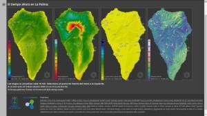 La Palma-Wetterdaten auf einen Blick: Im Menü der neuen Website des Cabildo kann man die Infos noch konkretisieren.
