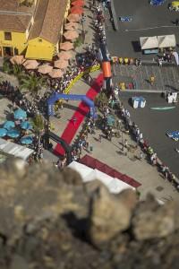 Transvulcania Vertical: Von Tazacorte geht´s steil hinauf zum El Time. TRV-Pressefoto