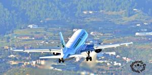 Germania: fliegt im Auftrag von Schauinsland. Foto: Carlos Díaz/La Palma Spotting