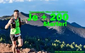 Ultramarathon 2017: Starterzahl auf 2.000 erhöht und ausgebucht. TRV-Pressefoto