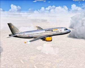 Vueling: Dank dieser Airline ist die Verbindung Barcelona-SPC inzwischen gesichert. Foto: Carlos Díaz