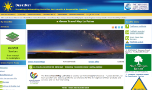 La Palma als Green Travel Map: Screenshot der Website.