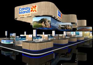 Der Pavillon der Kanarischen Inseln: hier präsentiert sich auch La Palma im Rahmen der ITB. Foto: Promotur