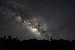 Vía Láctea sobre el Pico Birigoyo (El Paso. Isla de La Palma)