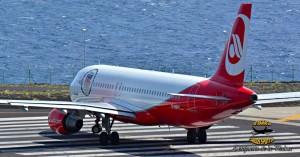 Airberlin-Flug am Freitag, 10. März 2017: mit Verspätung wegen des Ver.di-Bodenpersonal-Streiks ist zu rechnen. Foto: Carlos Díaz La Palma Spotting