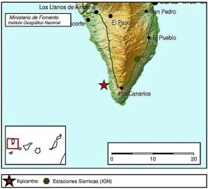 Nicht spürbar: Erdbeben in Fuencaliente.