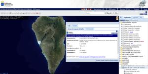 Grafcan-Karte La Palma: Strände mit kontrollierter Wasserqualität.