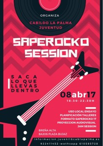 Saperocko-Bandraum in San Pedro: Session am 8. April.