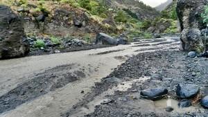 Barranco de las Angustias: Bei langanhaltendem oder plötzlichem Starkregen füllt sich die Schlucht der Todesängste mit Wasser. Diese Gefahr dürfen Wanderer nicht unterschätzen!