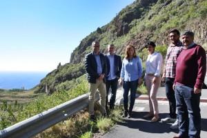 Lokaltermin am Barranco Seco bei Santa Cruz: Illegale Mülldeponie wird für knapp drei Millionen Euro versiegelt. Foto: Cabildo de La Palma