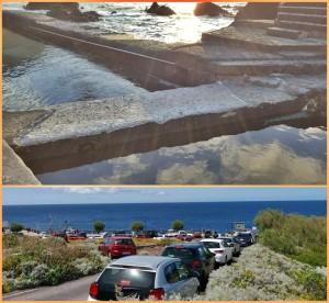 Fajana-Naturschwimmbecken: viel zuwenig Parkplätze. Foto: PSOE-Barlovento