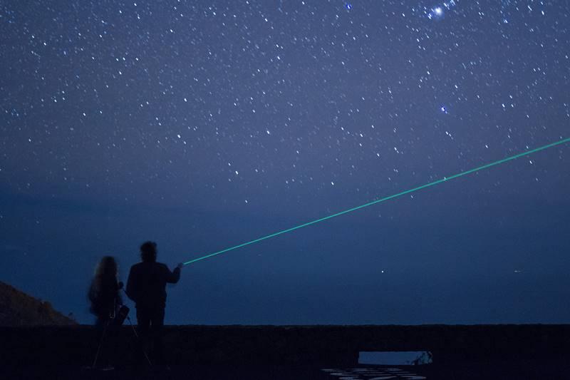 Fuencaliente: Wenn das künstliche Licht wegfällt, offenbart sich der sensationelle Nachthimmel über La Palma. Foto: