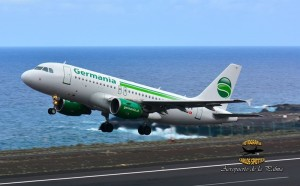 Germania: vier Flüge nach SPC im kommenden Winter. Foto: Carlos Díaz/La Palma Spotting