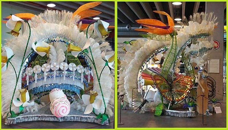 Derzeit am Airport Santa Cruz de La Palma (SPC) zu sehen: Prunkroben vom Karneval 2017.