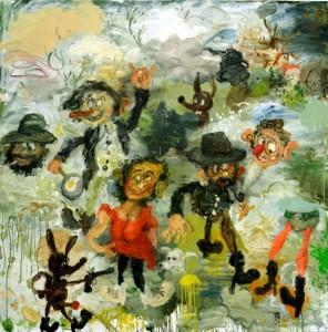 Matías Sánchez: ausdrucksstarke Ölgemälde in der Galeria García in Los Llanos.