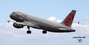 NIKI: Die Airline hat inzwischen die Airberlin-Flieger in Santa Cruz abgelöst. Foto: Carlos Díaz