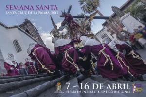 """Osterplakat wirbt für Prozessionen in Santa Cruz de La Palma: als """""""