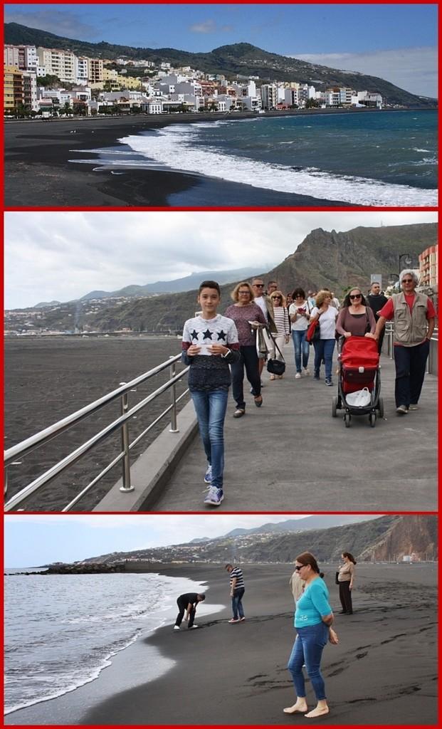 20.4.2017: Ein historischer Tag für Santa Cruz de La Palma, denn der langersehnte Strand wurde fürs Publikum freigegeben. Foto: Stadt