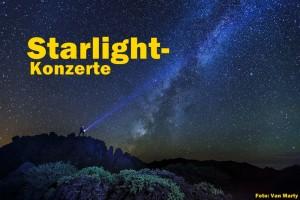 Zum Geburtstag der Starlight-Declaration: Konzerte bei Verdunkelung im Licht der Sterne. Foto: Van Marty
